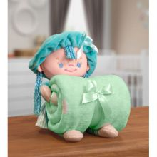 Manta Baby com Boneca de Pelúcia Puppy Verde - Bouton