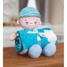 Manta Baby com Boneco de Pelúcia Sky Azul - Bouton