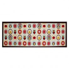 Passadeira Multiuso Gourmet Colorful 1,50m x 50 cm Corujas - Bella Casa