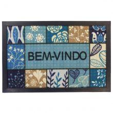 Tapete Bem vindo Fenice Colorful 60cm x 40cm Estampado - Bella Casa