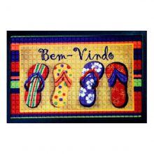 Tapete Bem-vindo Fenice Colorful 70cm x 40cm chinelo - Bella Casa