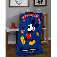 Toalha Banhão Aveludada Estampada Mickey - Dholer