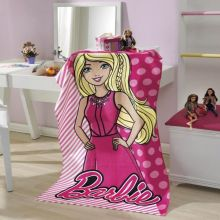 Toalha Banho Aveludada Estampada Barbie - Dholer