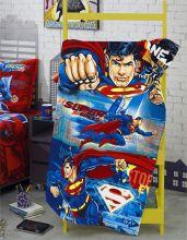 Toalha Banho Aveludada Estampada Superman 11 - Dholer