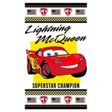 Toalha de Banho Disney Light Cars Champions Branco - Santista