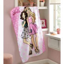 Toalha de Banho Felpuda Estampada Barbie - Dohler
