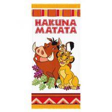 Toalha de Banho Felpuda Rei Leão Hakuna Matata - Lepper