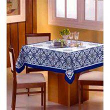 Toalha de mesa Bella Mesa 1,40m x 1,40m Floral Azul- Raner