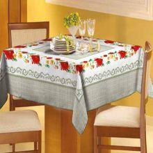 Toalha de mesa Classic 1,40m x 1,40m Flores e Folhas - Raner