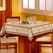 Toalha de mesa Classic 1,40m x 1,40m Rosas Bordo - Raner