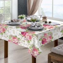 Toalha de mesa Classic 1,40m x 1,40m Rosas - Raner