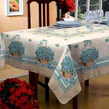 Toalha de mesa Classic 1,40m x 2,10m Flores e Folhas - Raner
