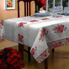 Toalha de mesa Classic 1,40m x 2,40m Flores e Folhas - Raner