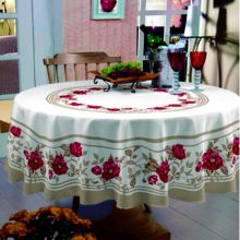 Toalha de mesa Classic Redonda 1,70m Rosas vermelhas - Raner