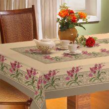 Toalha De Mesa Gourmet Rústica 1,40m x 2,10m Orquídea - Raner