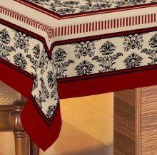 Toalha de Mesa Gourmet Rústica Arabesque Preto 1,40m x 1,40m - Raner