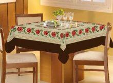 Toalha de Mesa Gourmet Rústica Rosas 1,40m x 1,40m - Raner
