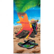 Toalha de Praia Aveludada Estampa Cadeira - Buettner
