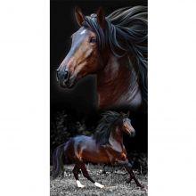 Toalha de Praia Aveludada Estampa Horses - Buettner