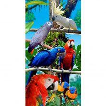 Toalha de Praia Aveludada Gigante Estampa Birds Forest - Buettner