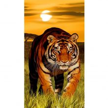 Toalha de Praia Aveludada Gigante Estampa Tigre - Buettner