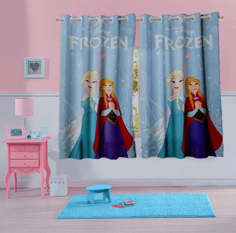 Cortina Estampada Frozen 2,00m  x 1,80m - Lepper