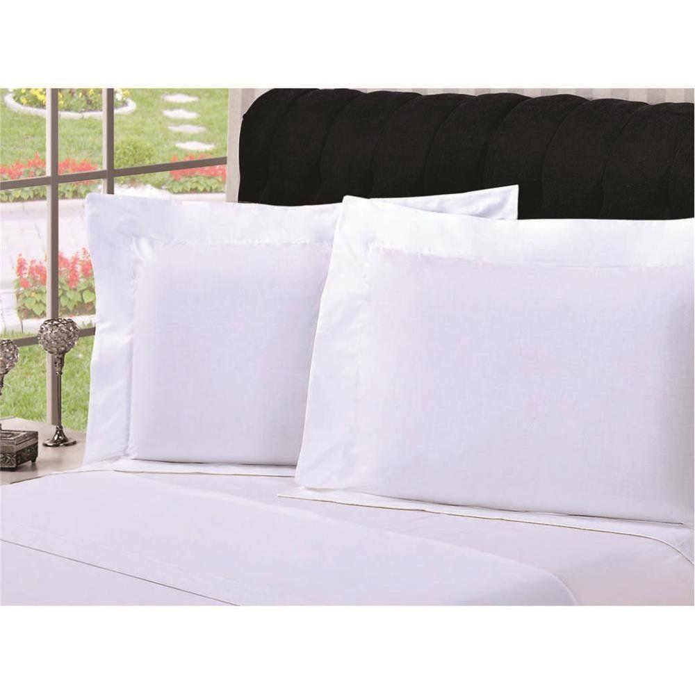 Fronha Lisa para Travesseiro com Debrum Branca - Pietra Home