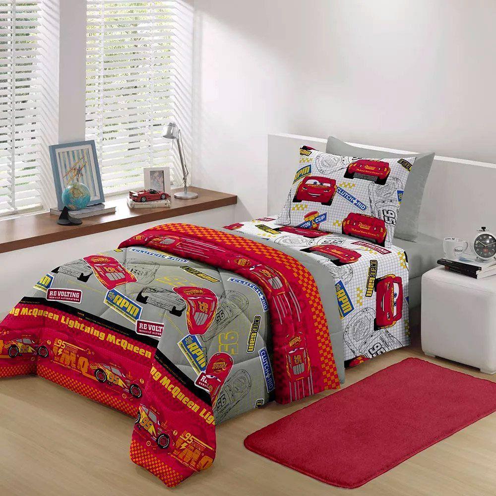 01f6a4a45b Inovare Decorações Santista Jogo de lençol Solteiro 3 Peças Carros Speed -  Santista