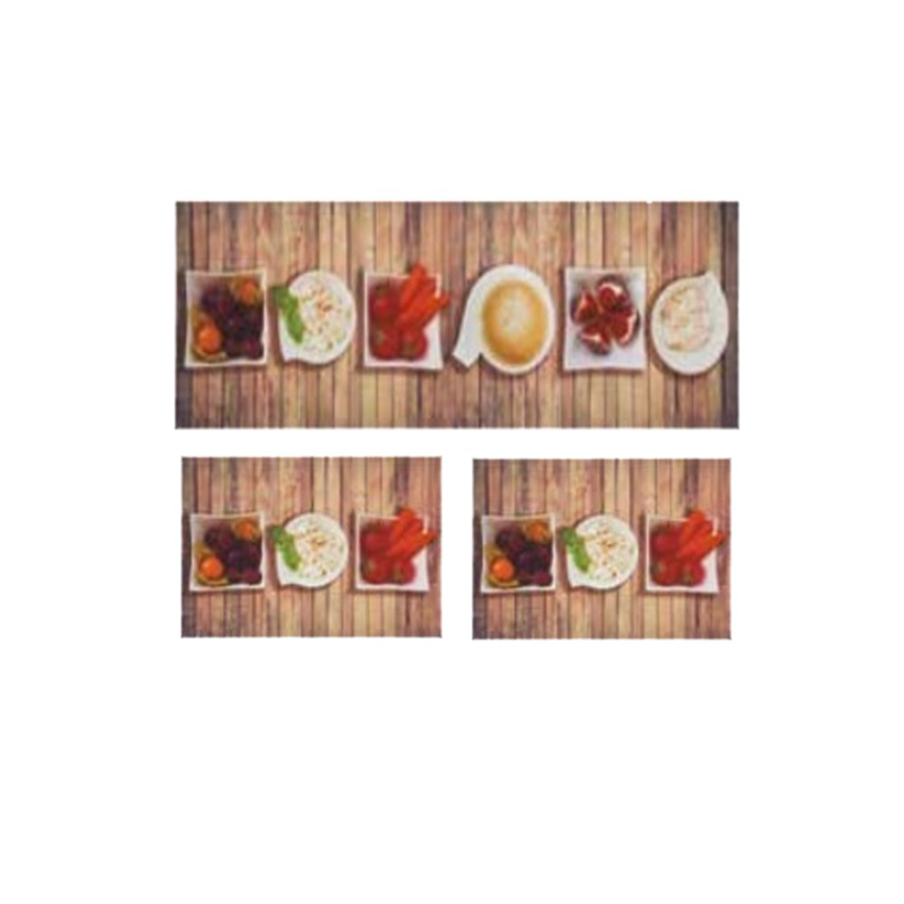 Jogo Tapetes Para Cozinha 3 Pe As Mangiare Refei O Jolitex