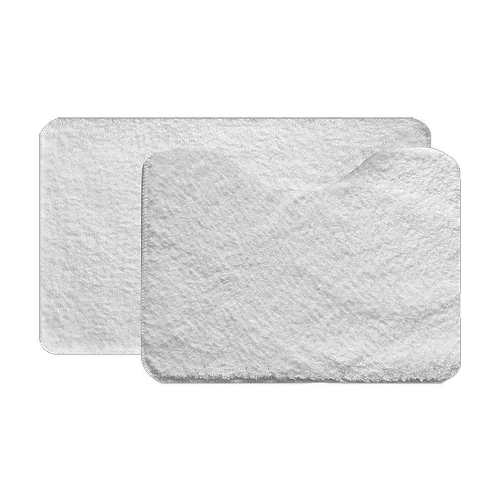 Jogo de Tapete Soft Color Para Banheiro 2 Peças Branco - Bella Casa