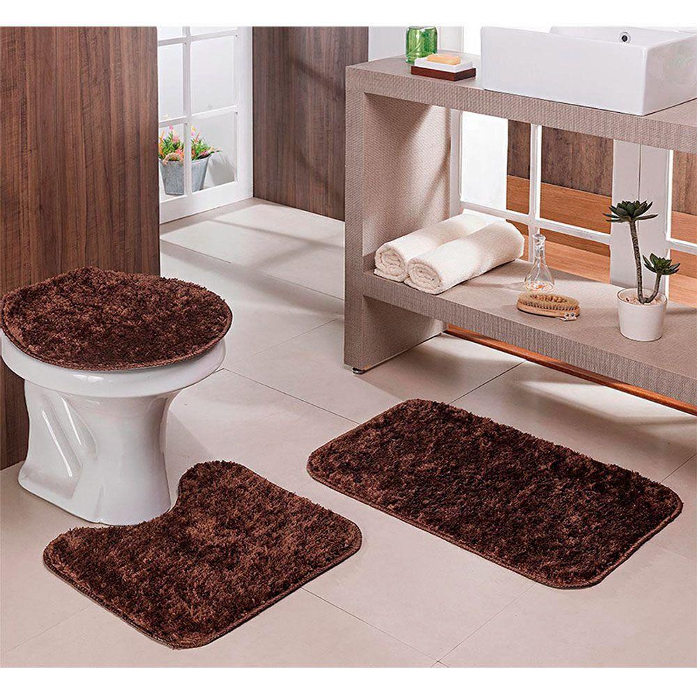 kit Para Banheiro Classic 3 Peças Castor - Oásis