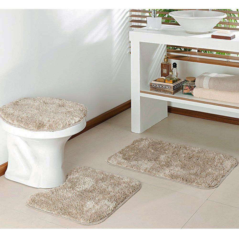 kit Para Banheiro Classic 3 Peças Pérola - Oásis