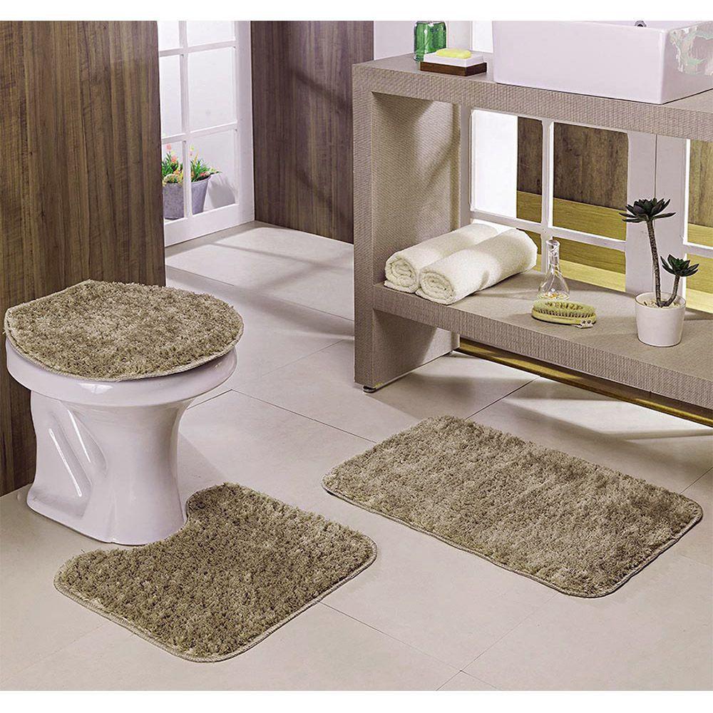 kit Para Banheiro Classic 3 Peças Trigo - Oásis