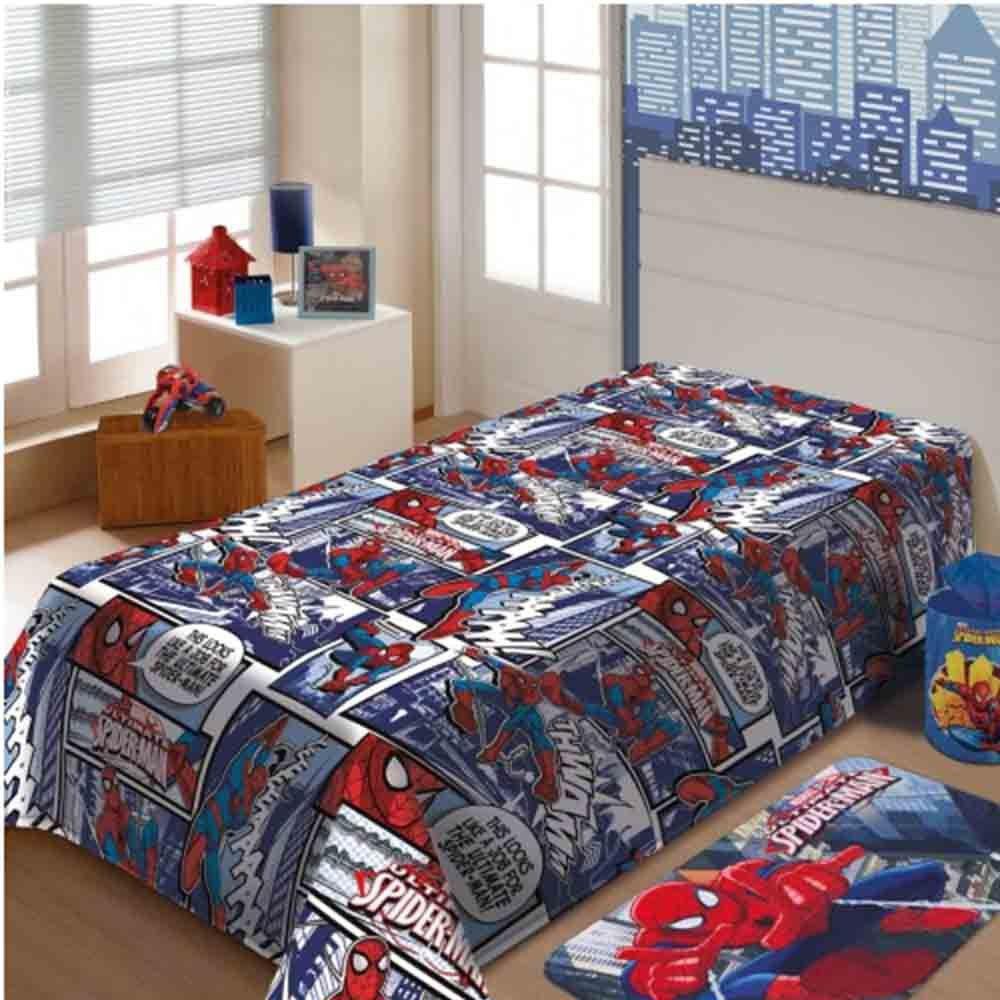 Manta de Microfibra Soft Solteiro Spider-Man - Jolitex