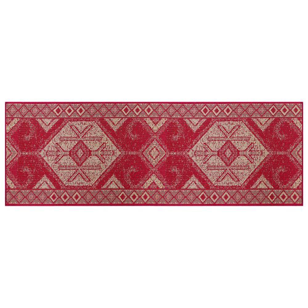 Passadeira Sisal 66cm x 1,80m Vermelho Ps09- Tapetes Lancer
