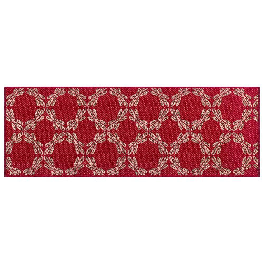 Passadeira Sisal 66cm x 1,80m Vermelho Ps10- Tapetes Lancer