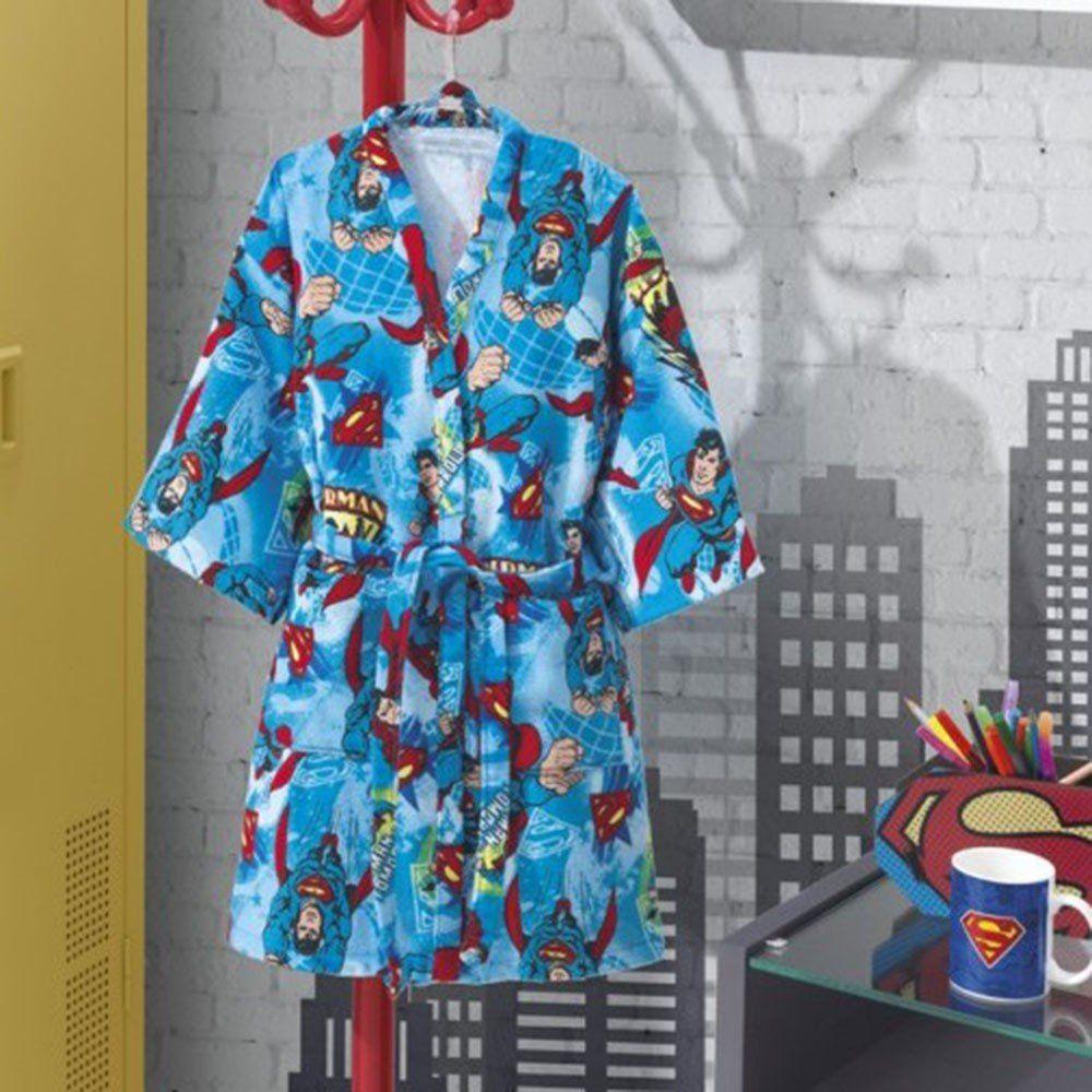 Roupão Infantil Superman Aveludado Tamanho M - Dohler