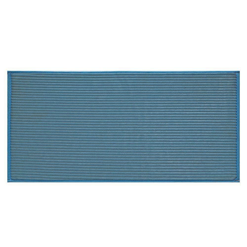 Tapete Avulso Linea 60cm x 1,20m Azul - Jolitex