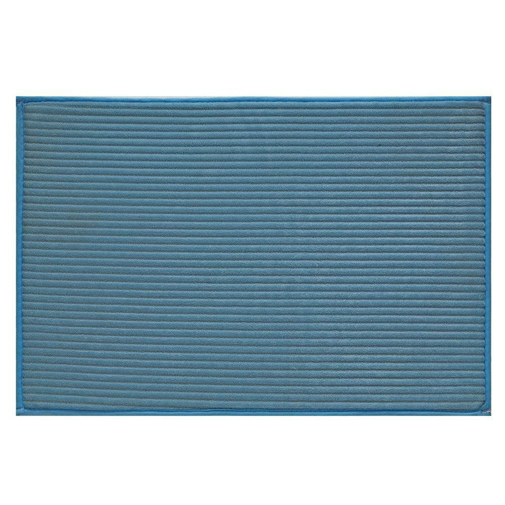 Tapete Avulso Linea 50cm x 70cm Azul - Jolitex