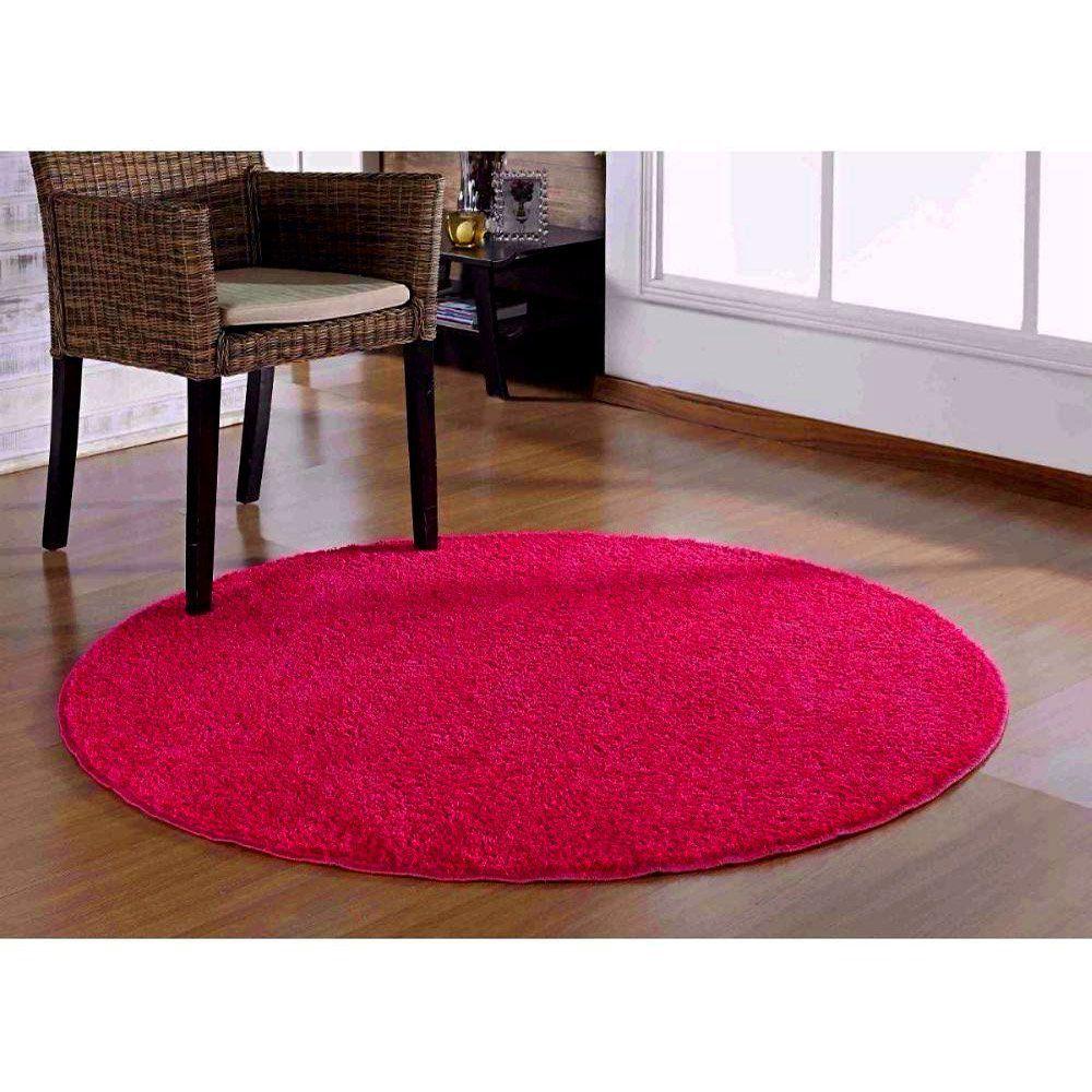 Tapete Redondo 1,50m Classic Pink - Oásis Tapetes