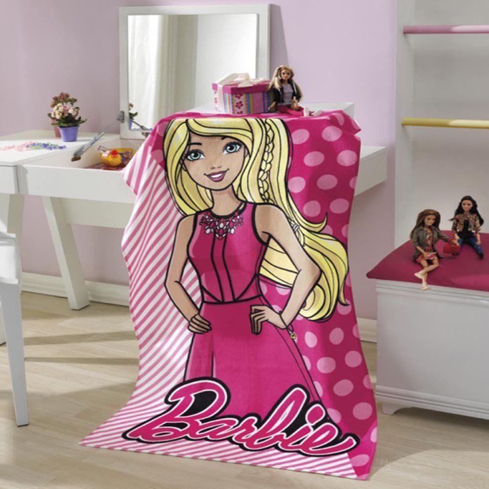 b93d1faed4d6 Toalha Banho Aveludada Barbie Inovare Decorações