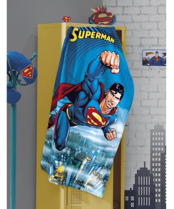 Toalha Banho Aveludada Estampada Superman - Dholer
