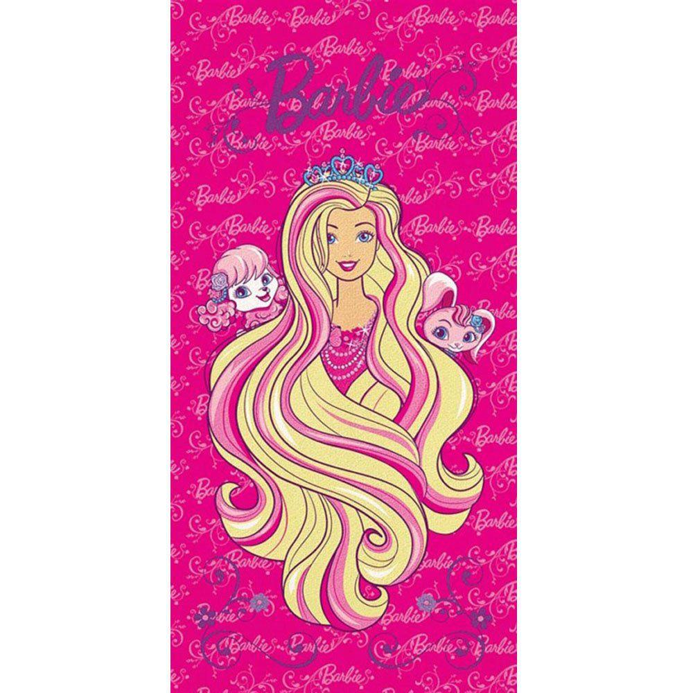 Toalha de Banho Aveludada Personagem Barbie - Lepper