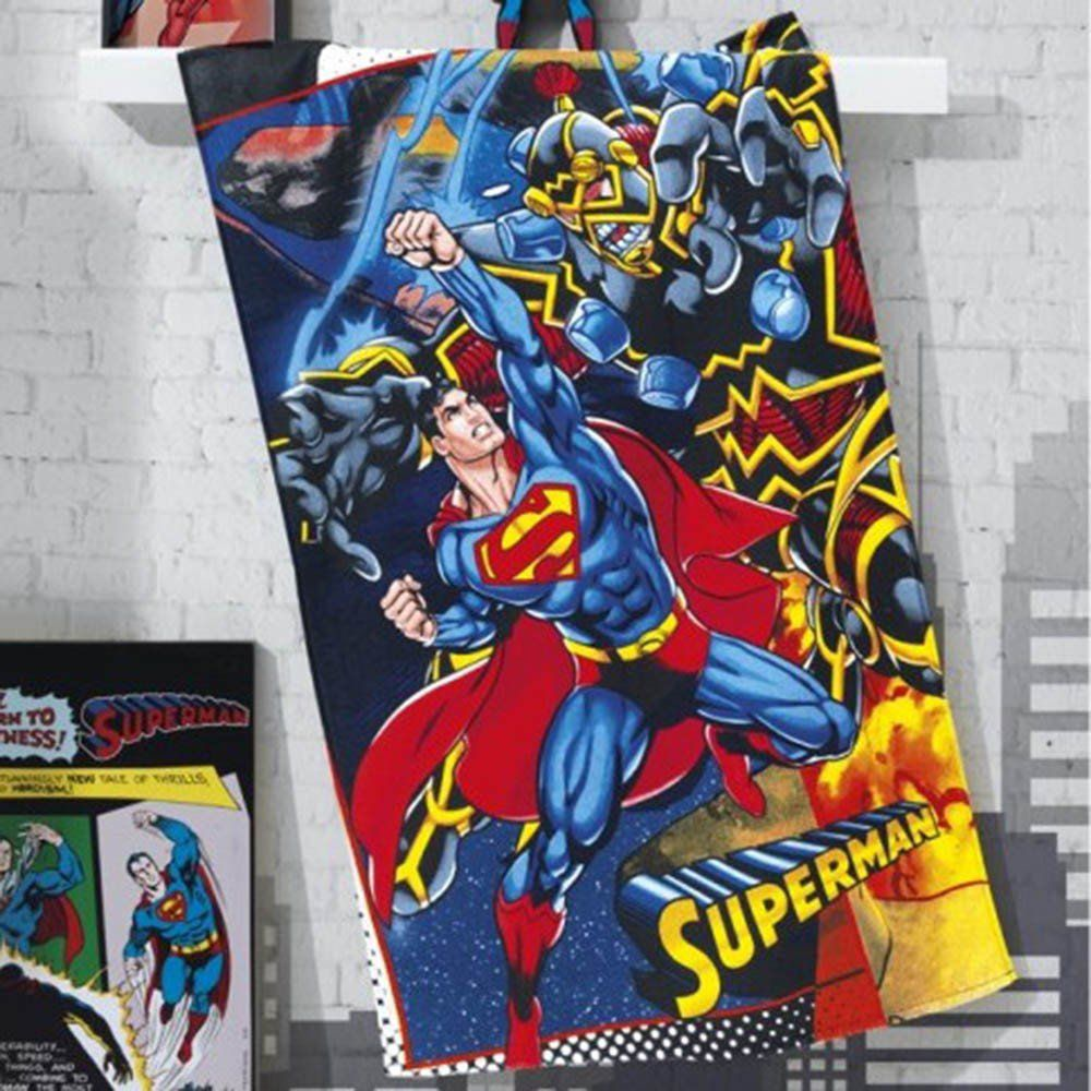 Toalha Banho Felpuda estampada Superman - Dholer