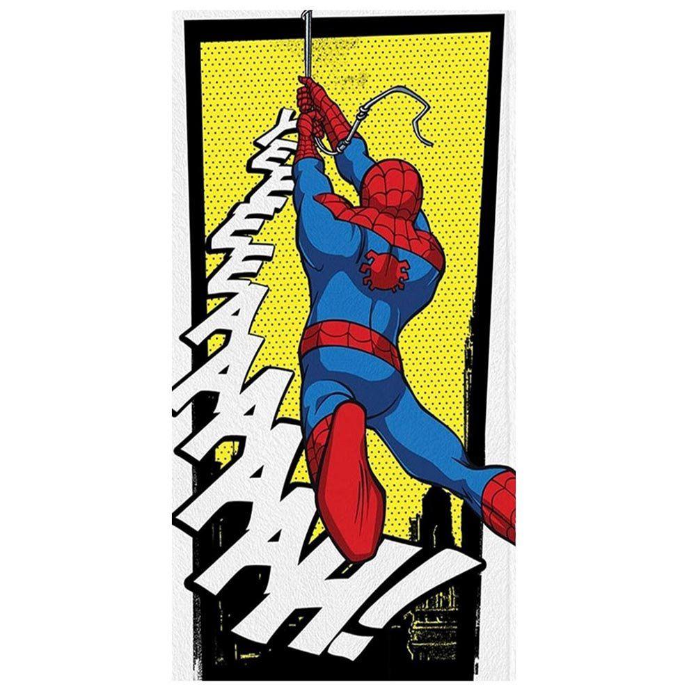 Toalha de Banho Felpuda Personagem Spider Man Yeah! - Lepper