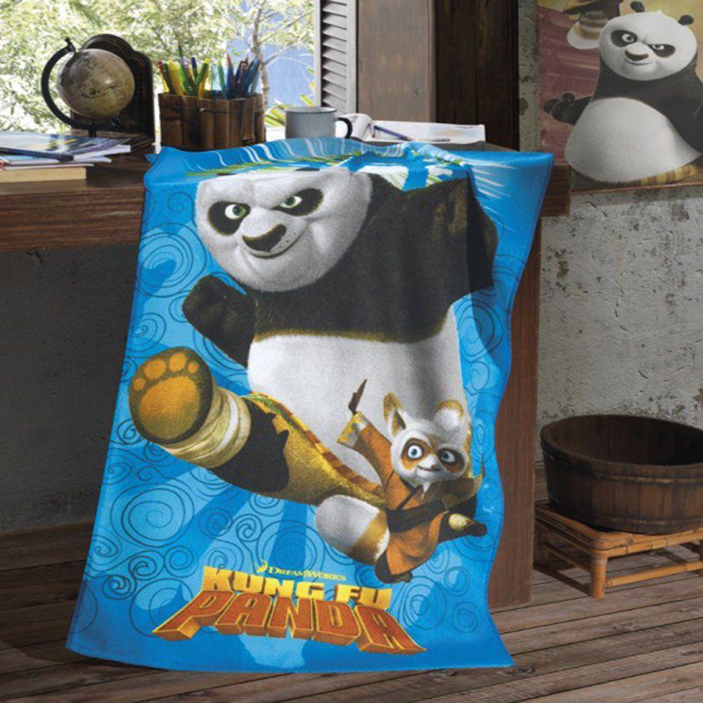 Toalha de Banho Felpuda Estampa Kung Fu Panda - Dohler