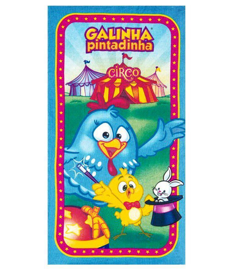 Toalha Banho Infantil Aveludada Galinha Pintadinha Circo- Dohler