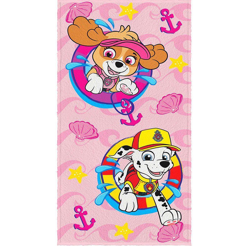 Toalha de Banho Felpuda Personagem Patrulha Canina  - Lepper