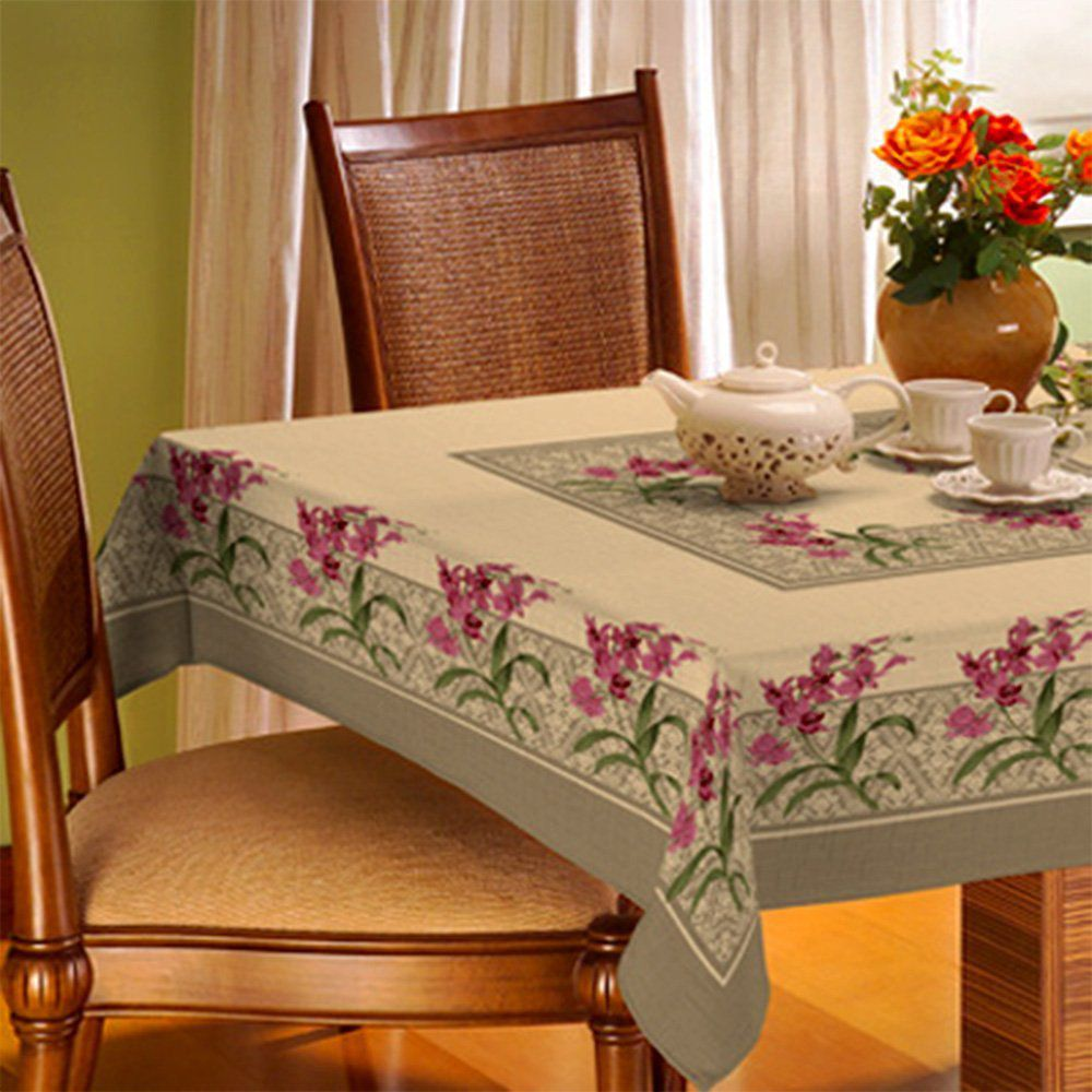 Toalha De Mesa Gourmet Rústica 1,40m x 1,40m Orquídea - Raner