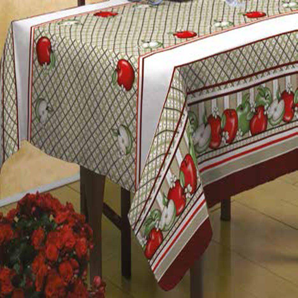 Toalha de mesa Bella Mesa 1,40m x 2,40m Maçãs- Raner